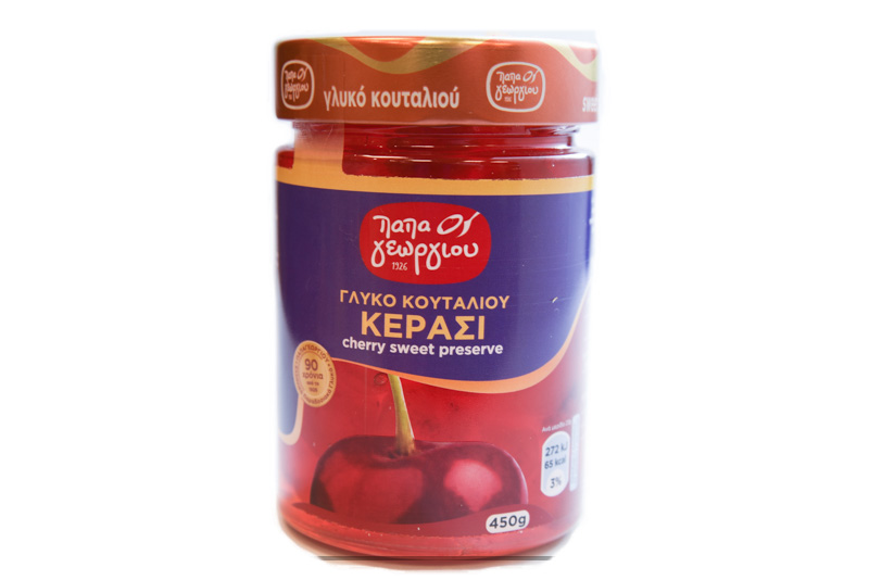Γλυκό Κουταλιού Παπαγεωργίου Κεράσι 450 gr Συσκευασία r