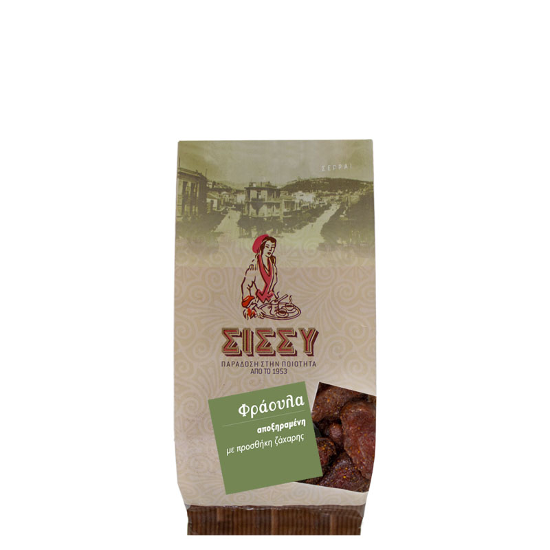 Φράουλα Αποξηραμένη (προσθήκη ζάχαρης)  100 gr Συσκευασία