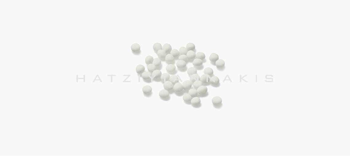 Κουφέτο στρογγυλό 5 mm περλέ  λευκό 500 gr Συσκευασία