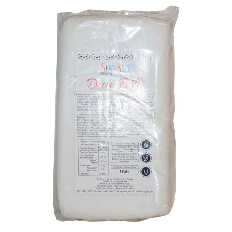 Ζαχαρόπαστα Λευκή 100 gr Συσκευασία