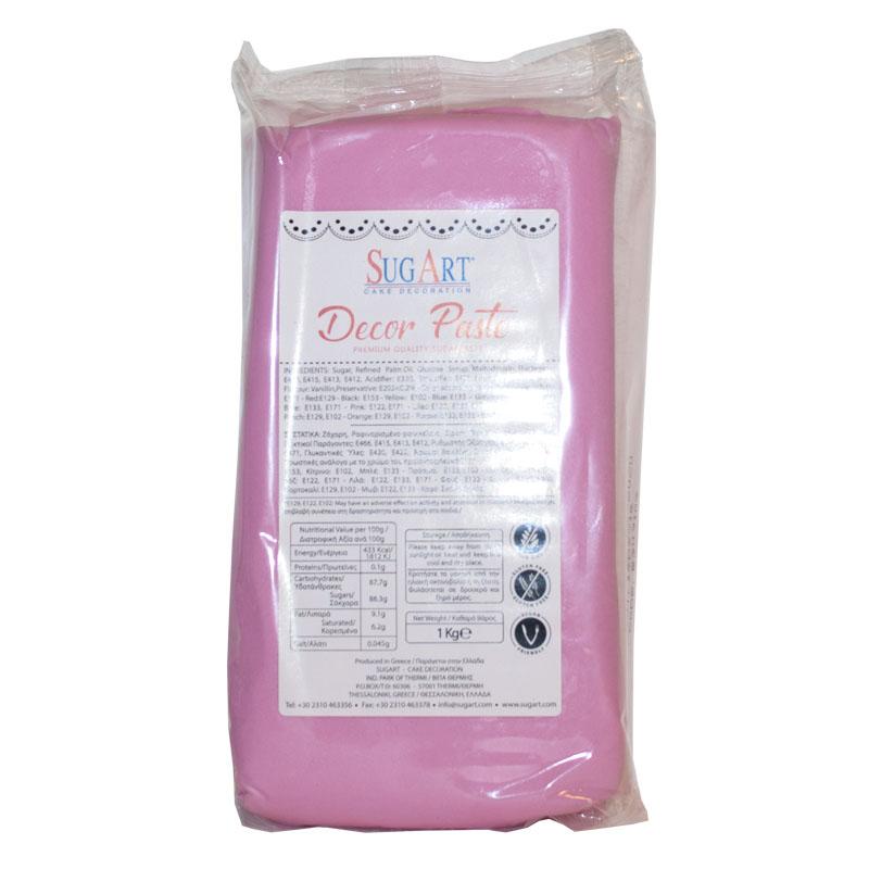 Ζαχαρόπαστα Ροζ 100 gr Συσκευασία
