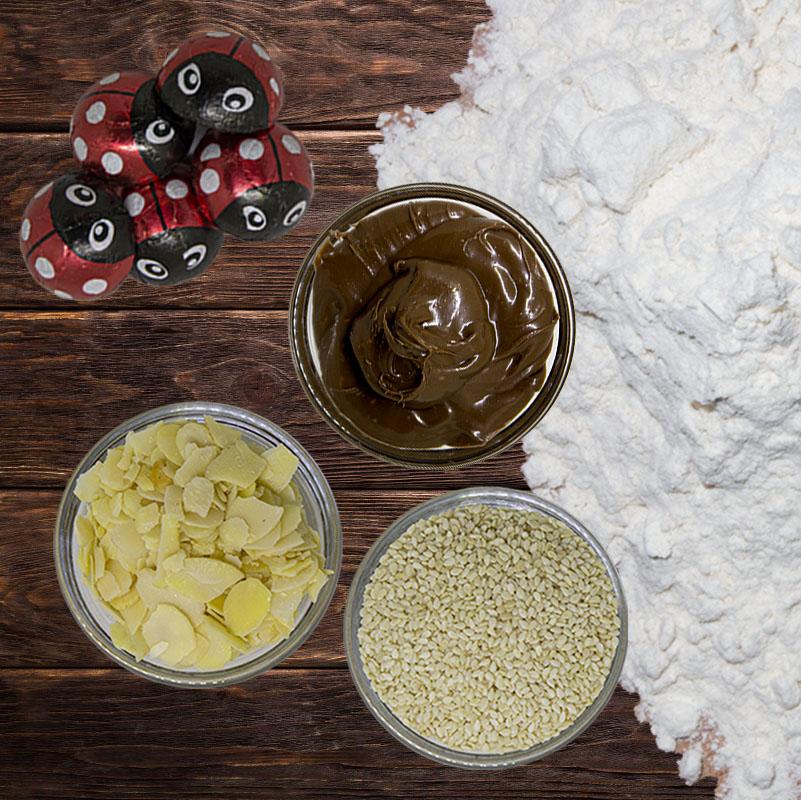Μείγμα μίξης Κακουλέ, Μαχλέπι, Αλεύρι Τύπου Αμερικής, Σοκολάτα Bitter Yγείας