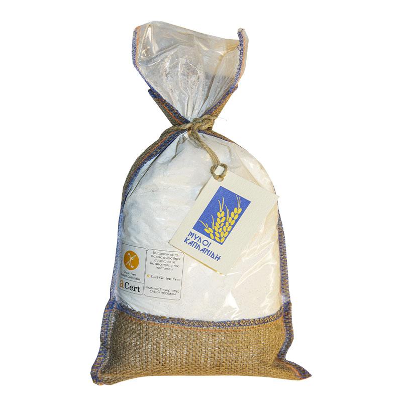 Αλεύρι χωρίς Γλουτένη για Ψωμί και Αρτοσκευάσματα 1.000 gr Συσκευασία