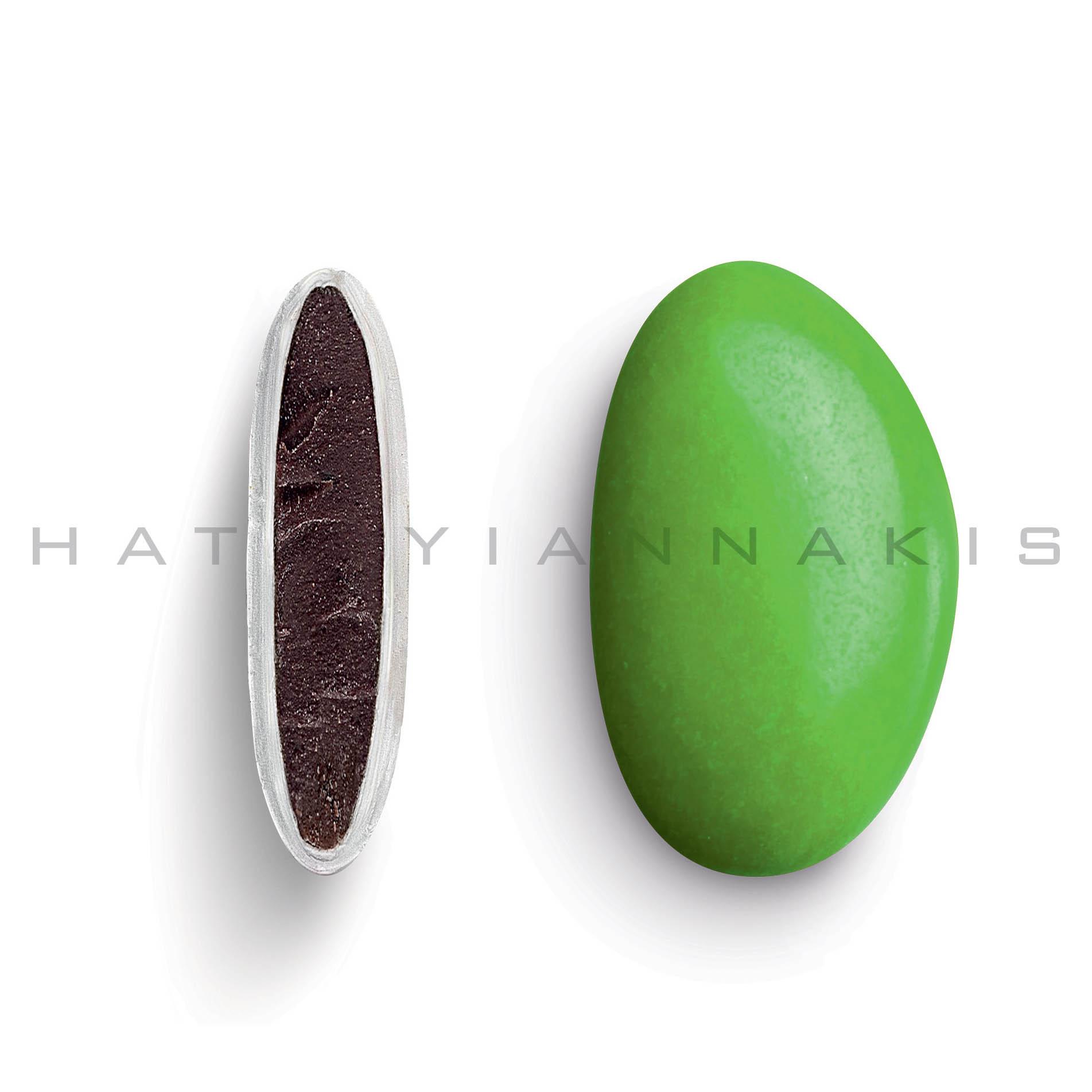 Κουφέτo bijoux supreme πράσινο, γυαλισμένο 500 gr Συσκευασία