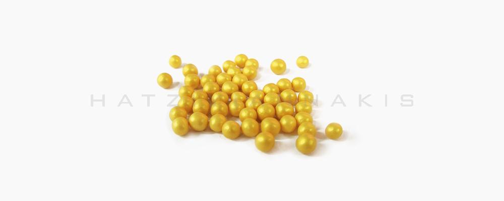 Κουφέτο ζαχαρώδη διακοσμητικό, χρυσό μεταλλιζέ 250 gr Συσκευασία