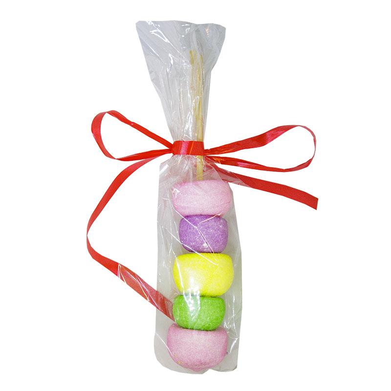 Καλαμάκι Marshmallows Γκόλφ Πράσινο Κίτρινο Ροζ Μωβ (Χωρίς Γλουτένη) 30 gr Συσκευασία